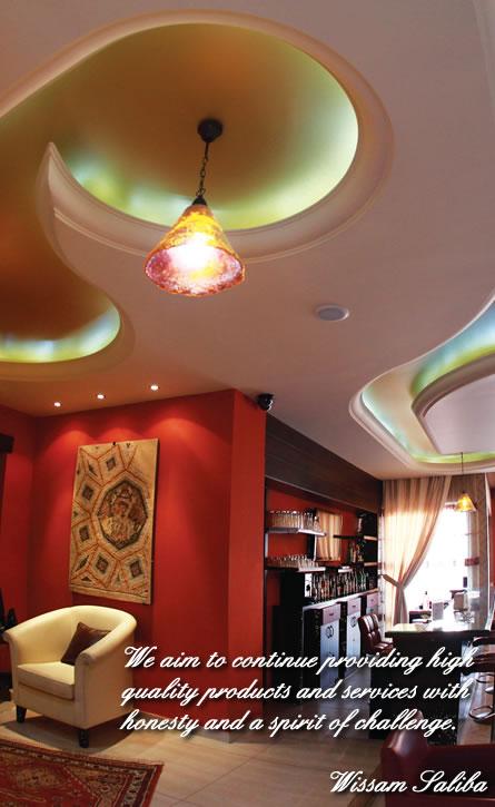 gibson board ceiling decoration ideas - Saliba Decor Gypsum Board contracting and painting Lebanon